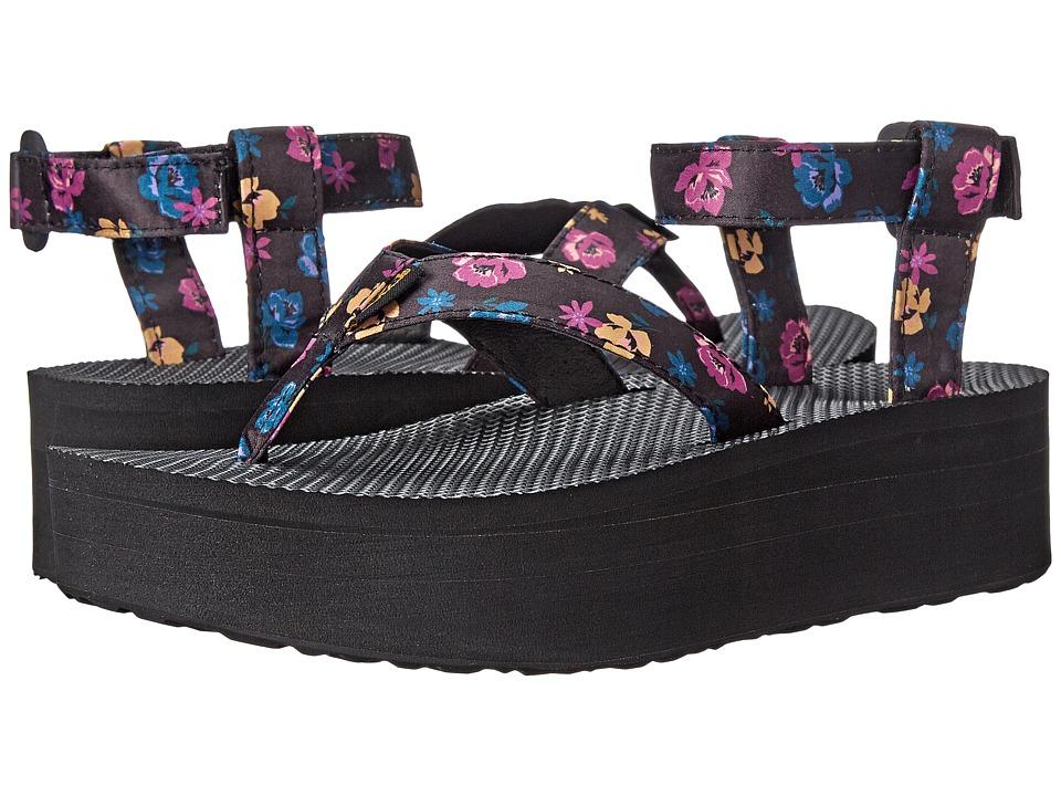 Teva - Flatform Sandal Floral (Black) Women's Sandals