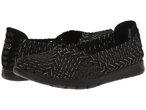 BOBS from SKECHERS - Pureflex - Here Now (Black/Silver) Women's Flat Shoes
