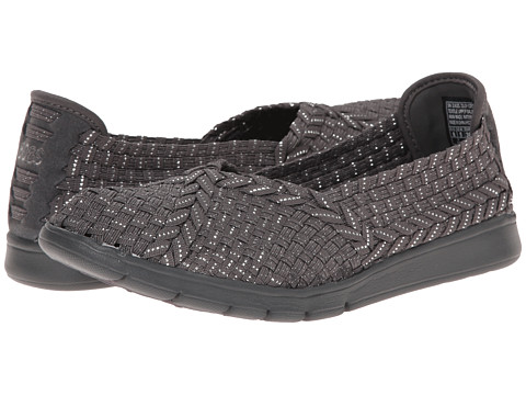 BOBS from SKECHERS - Pureflex - Here Now (Charcoal/Silver) Women's Flat Shoes