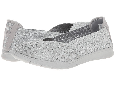 BOBS from SKECHERS - Pureflex - Pure Fun (Silver) Women's Flat Shoes