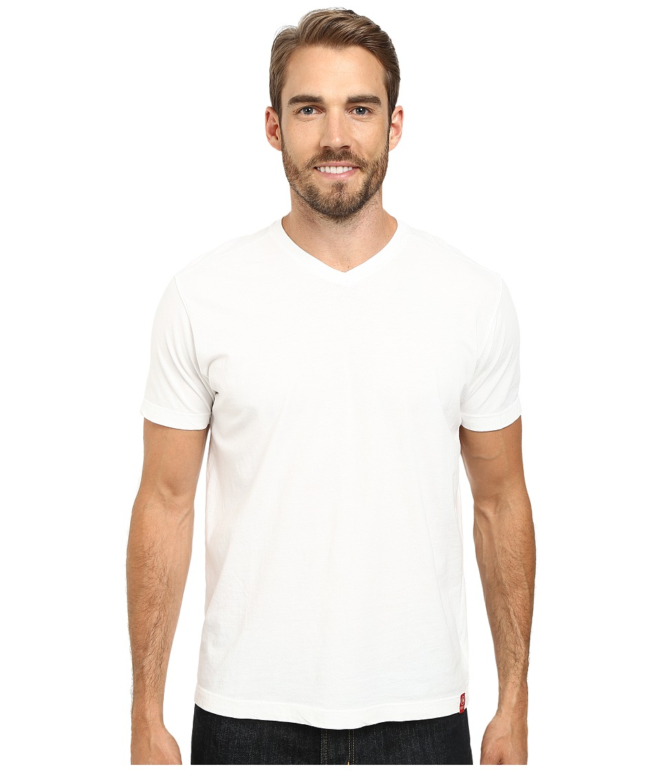 Agave Denim - Agave Hi-V Supima Tee (White) Men's T Shirt