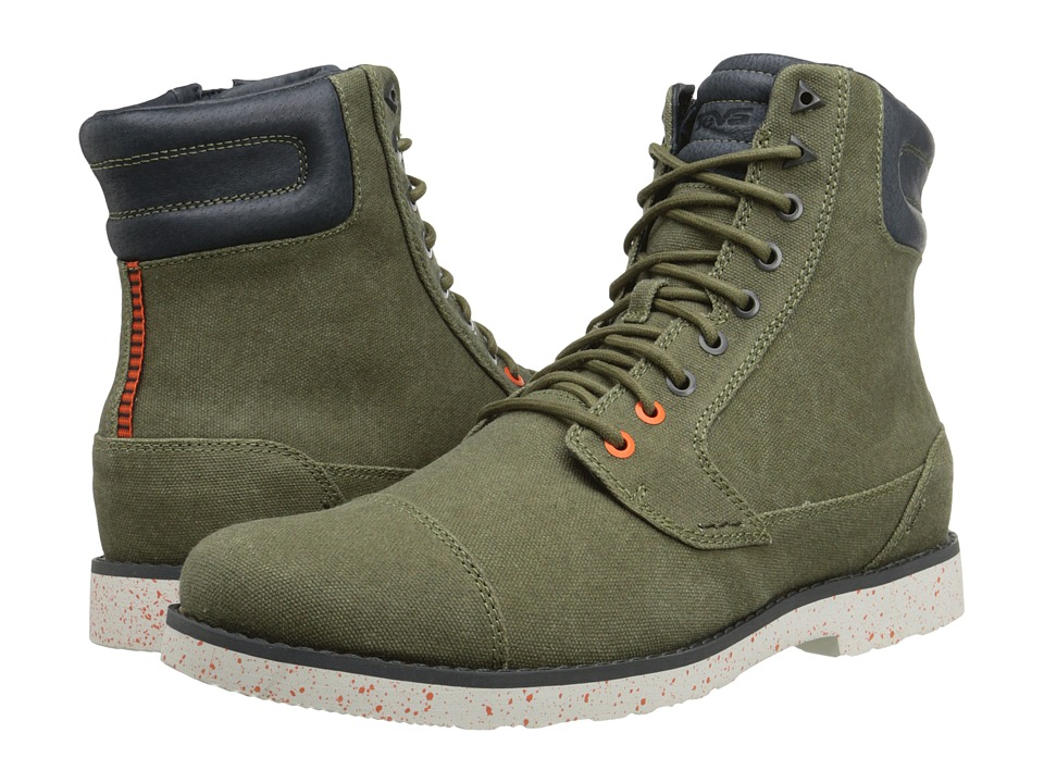 Teva - Durban Tall Waxed Canvas (Dark Olive) Men's Shoes