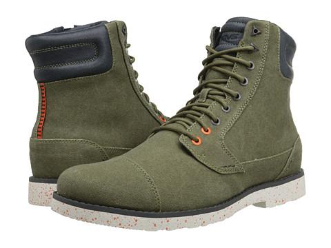 Teva - Durban Tall Waxed Canvas (Dark Olive) Men's Shoes