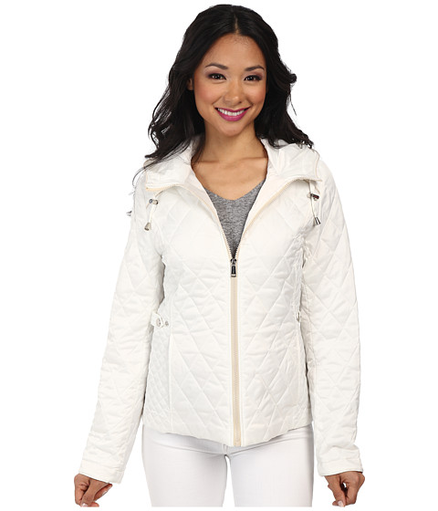 Nautica - Hooded Quilted Jacket (Cloud/Pearl) Women
