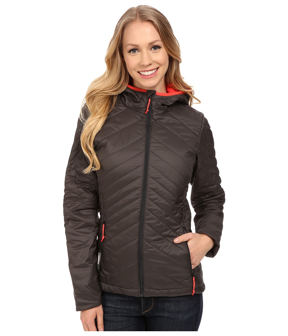 Icebreaker Stratus Long Sleeve Zip Hood (Monsoon/Grapefruit/Grapefruit) Women