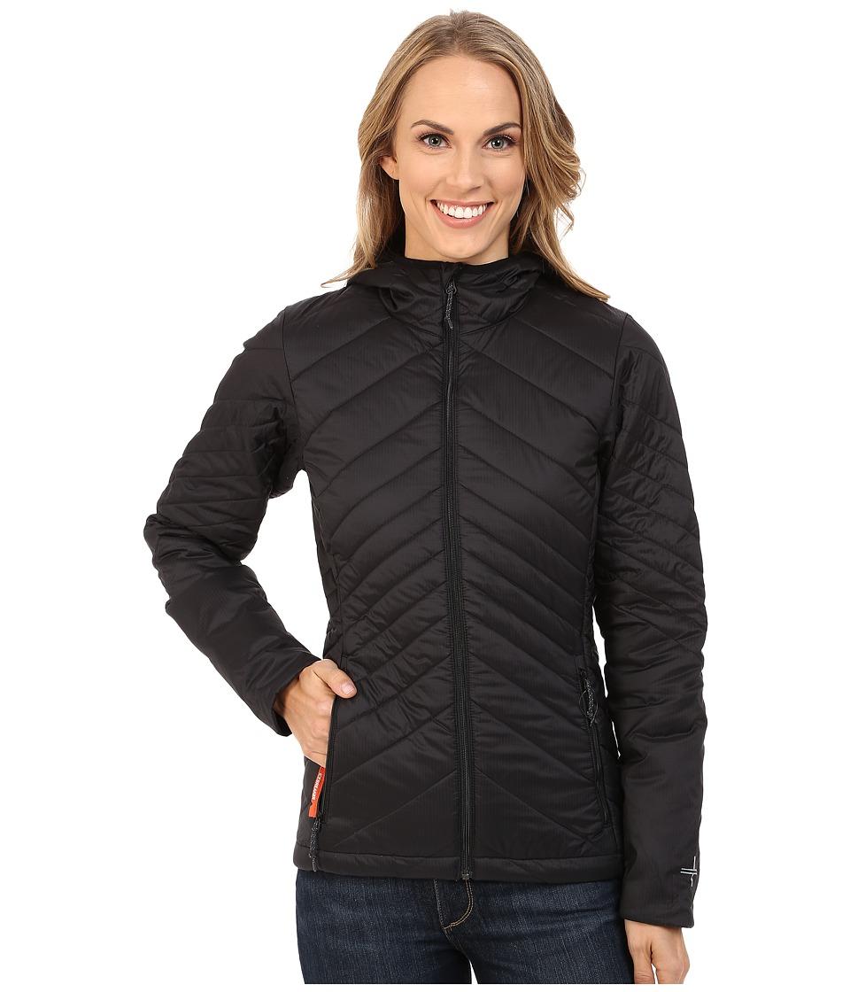 Icebreaker - Stratus Long Sleeve Zip Hood (Black/Monsoon/Black) Women's Sweatshirt