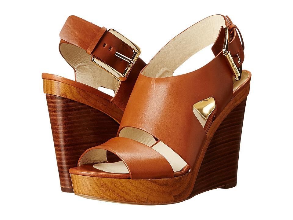 MICHAEL Michael Kors - Carla Wedge (Luggage Vachetta) Women's Wedge Shoes