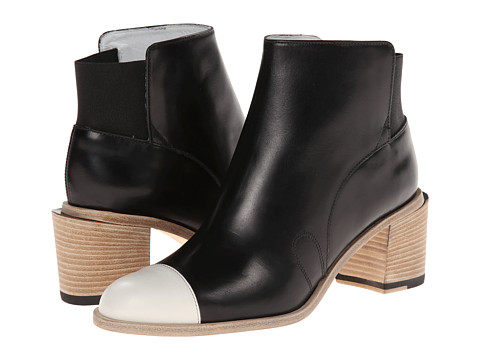 Band of Outsiders - Jodhpur Ankle Boot (Black/White) Women's Boots