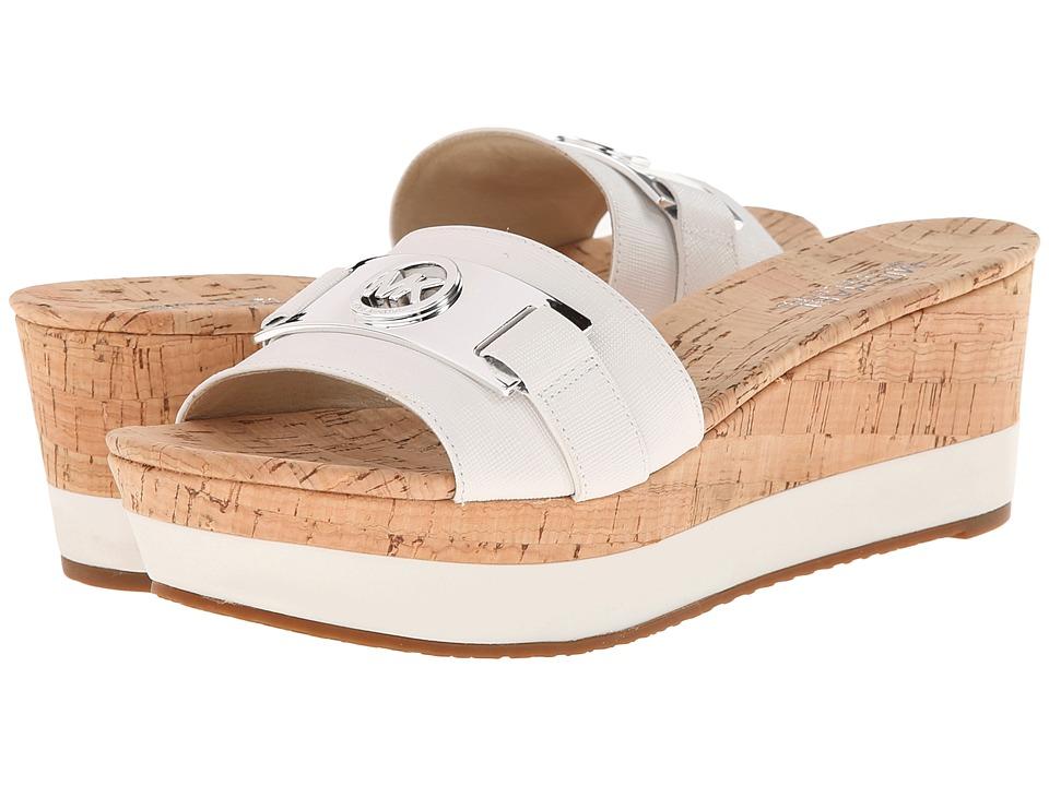 MICHAEL Michael Kors - Warren Platform (Optic White Saffiano/Cork) Women's Sandals