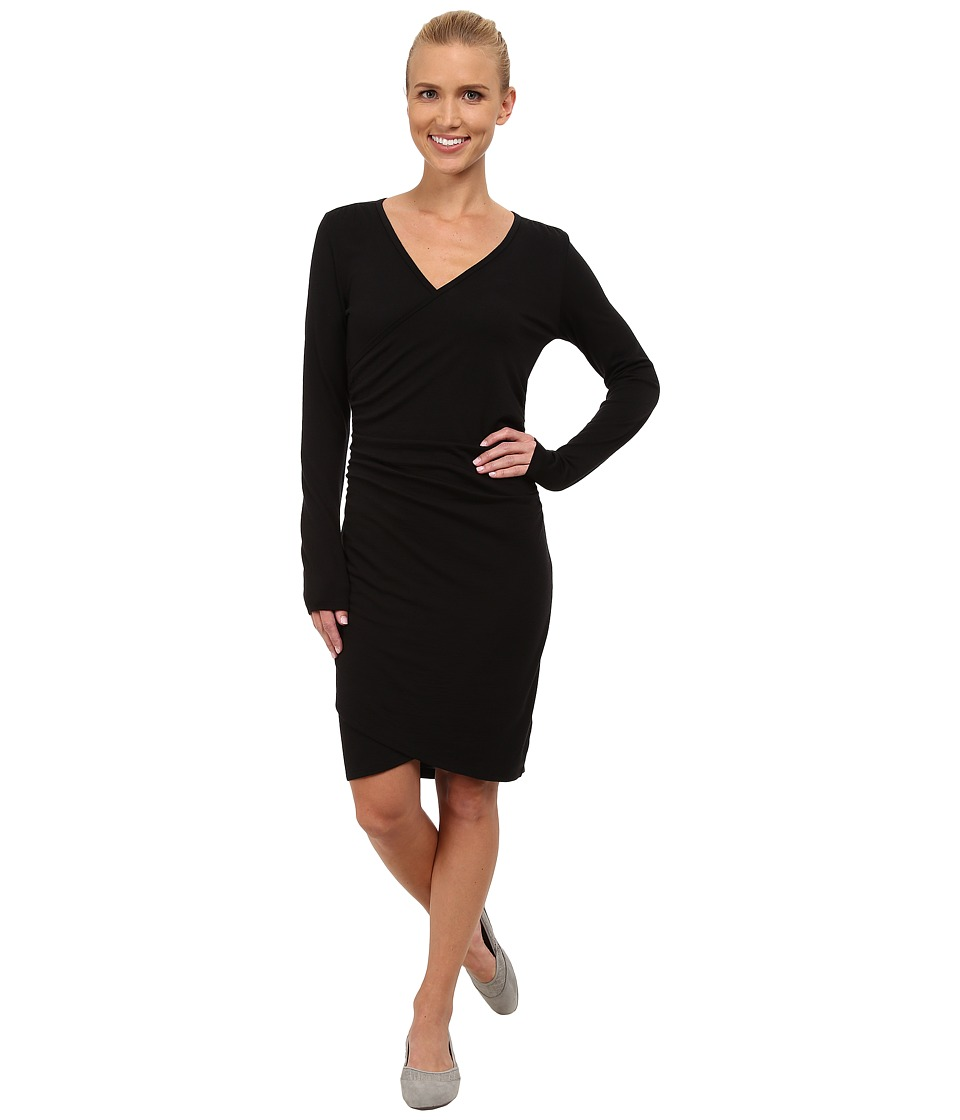 Icebreaker Aria Long Sleeve Dress (Black) Women
