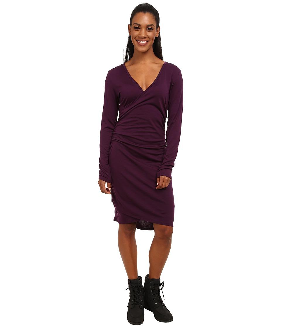 Icebreaker - Aria Long Sleeve Dress (Vino) Women's Dress