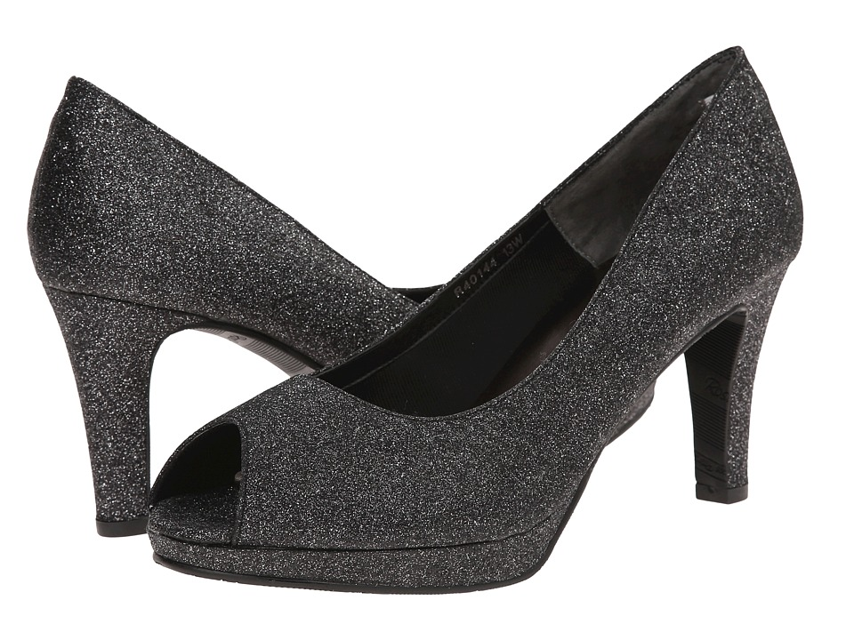 Rose Petals - Prom (Black Sparkle Pu) Women's Shoes