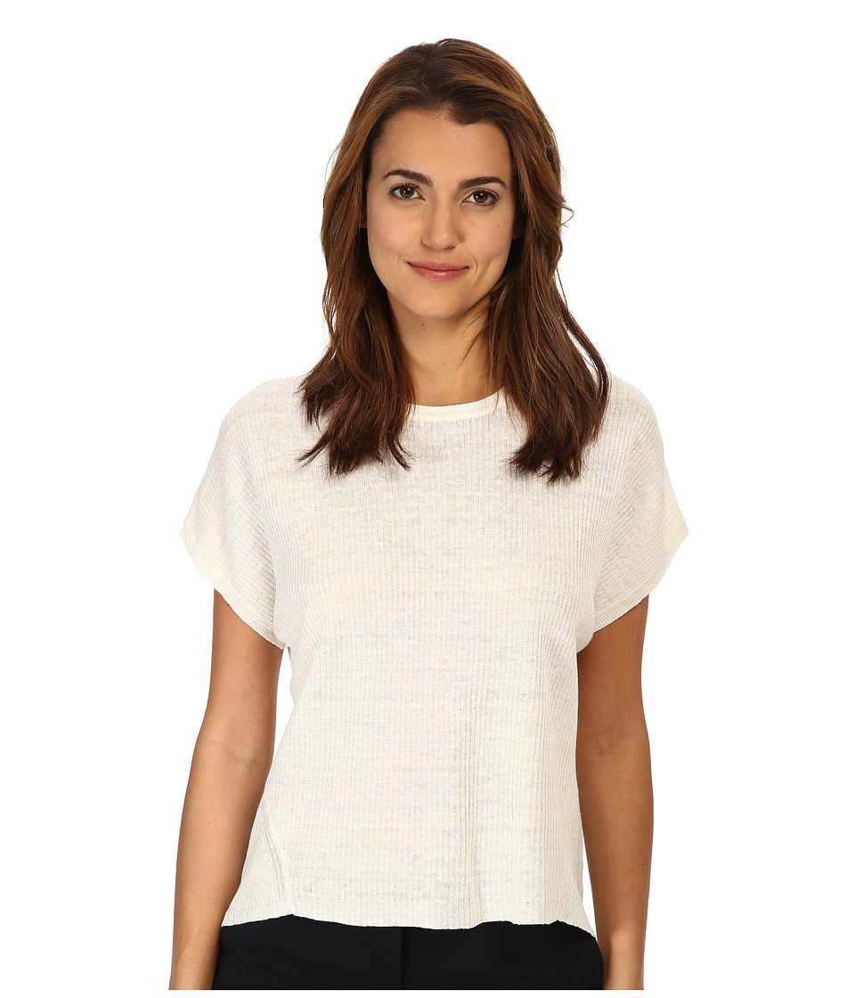 Theory - Talavyn Top (Ivory) Women's Short Sleeve Pullover