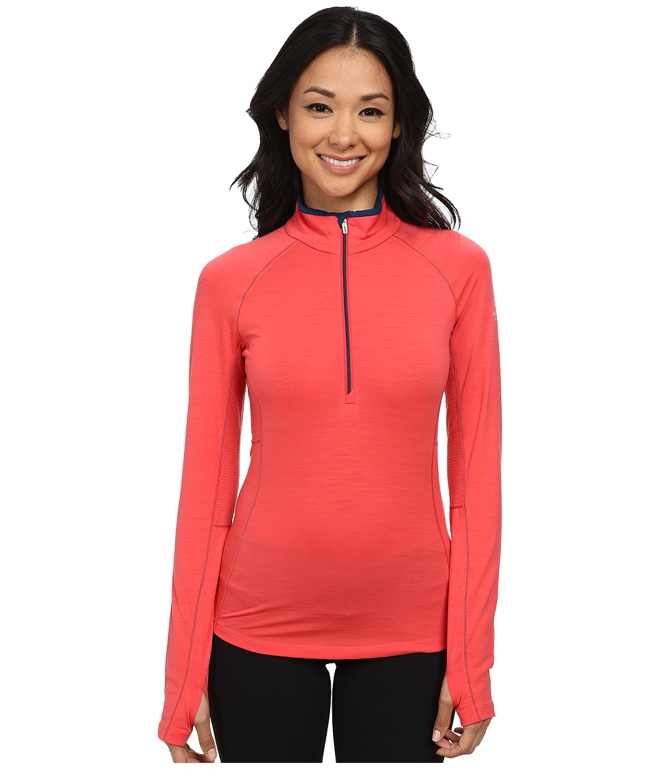 Icebreaker - Zone Long Sleeve Half Zip (Grapefruit/Night/Night) Women's Workout