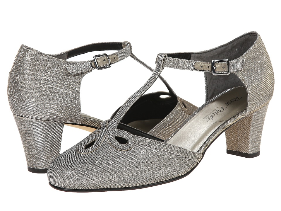 Rose Petals - Belle (Pewter Sparkle Fabric) Women's Shoes