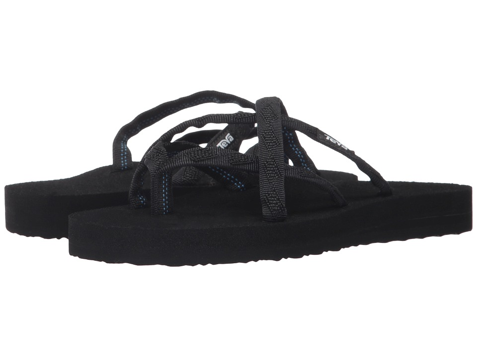 Teva - Olowahu (Mix B Black On Black) Women's Shoes