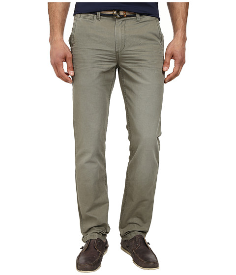 U.S. POLO ASSN. - Slim Fit Canvas Pants with Belt (Camp Green) Men