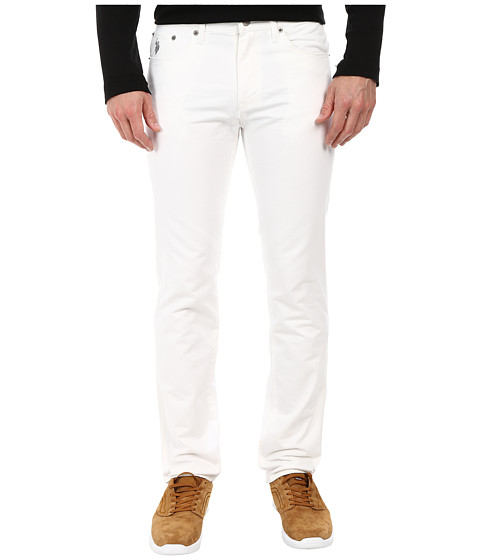 U.S. POLO ASSN. - Skinny Fit Twill Five-Pocket Pants (White) Men's Casual Pants