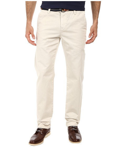 U.S. POLO ASSN. - Twill Slim Fit Belted Pants (Polo Stone) Men