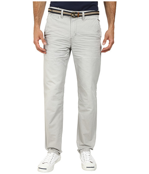 U.S. POLO ASSN. - Slim Fit Canvas Pants with Belt (Foundation Grey) Men's Casual Pants