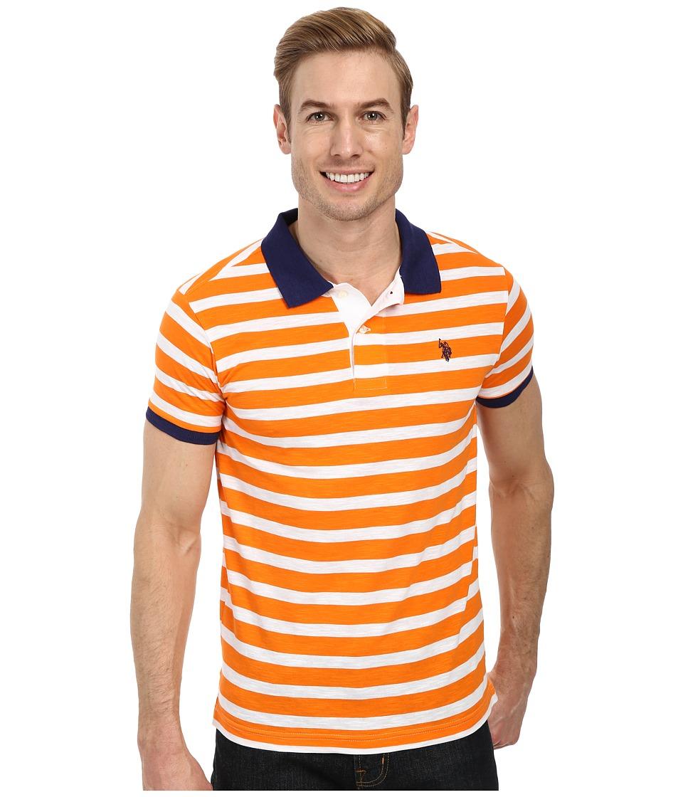 U.S. POLO ASSN. - Slim Fit Slub Polo (Orange Sunset) Men