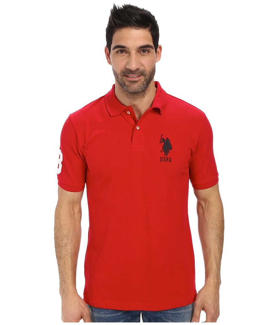 U.S. POLO ASSN. - Solid Pique Polo (Engine Red) Men