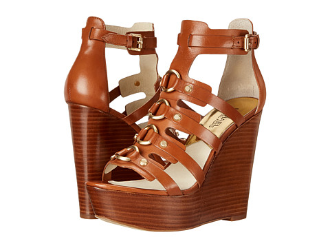 MICHAEL Michael Kors - Nadine Wedge (Luggage Vachetta) Women