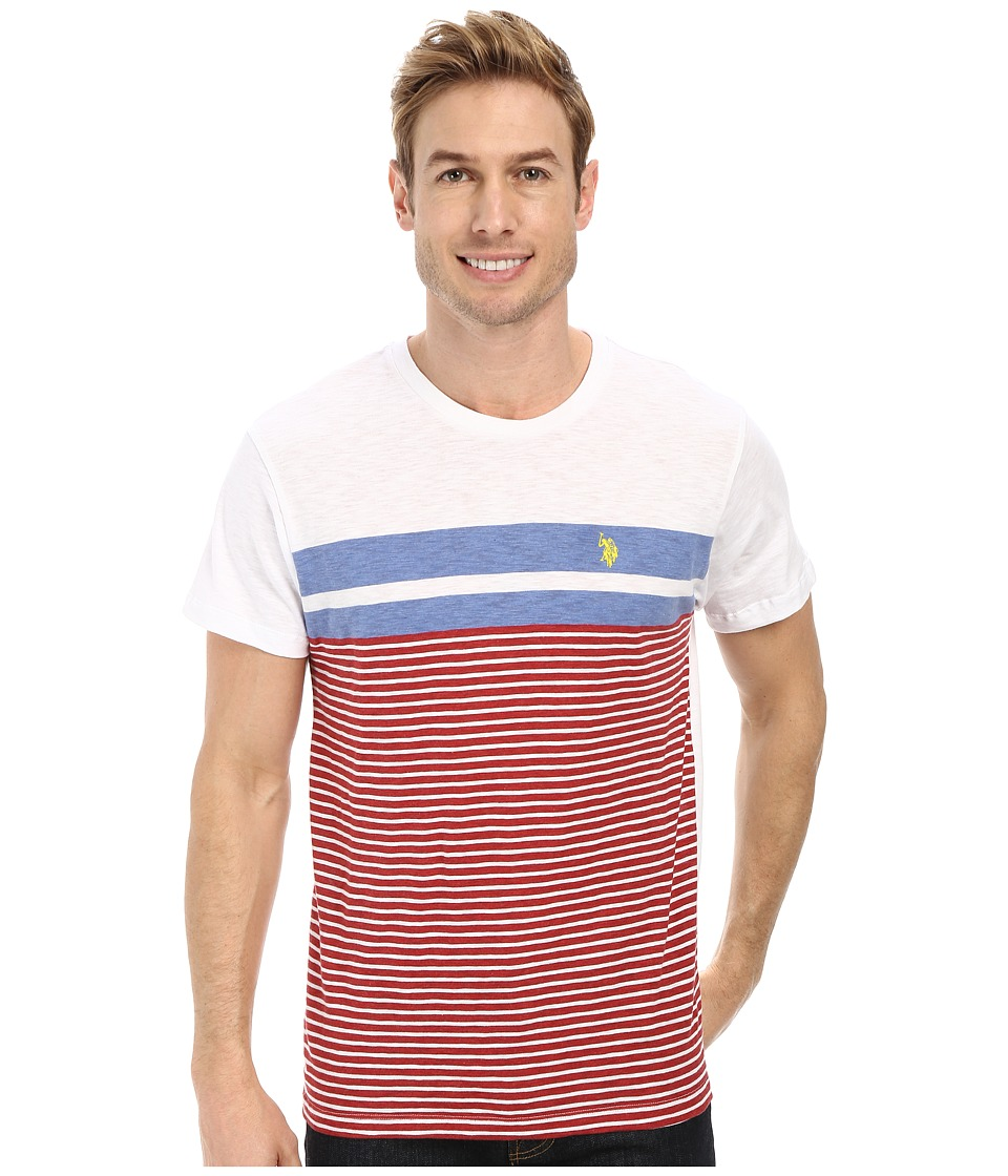 U.S. POLO ASSN. - Engineered Stripe Crew Neck T-Shirt (Dodger Blue) Men's T Shirt