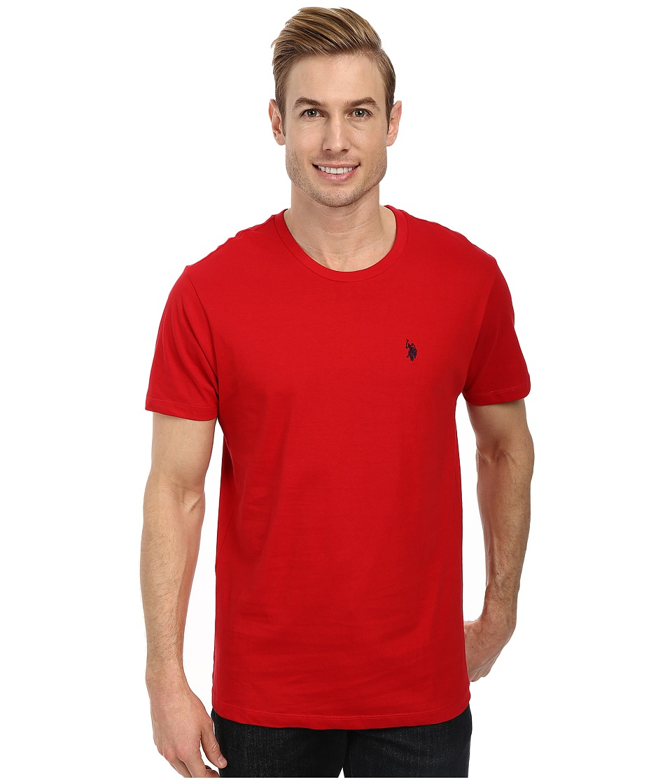 U.S. POLO ASSN. - Crew Neck Small Pony T-Shirt (Engine Red) Men's Short Sleeve Pullover