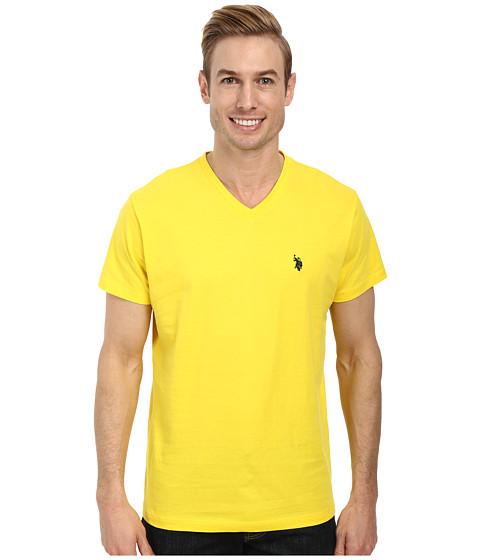 U.S. POLO ASSN. - V-Neck Short Sleeve T-Shirt (Sailing Yellow) Men