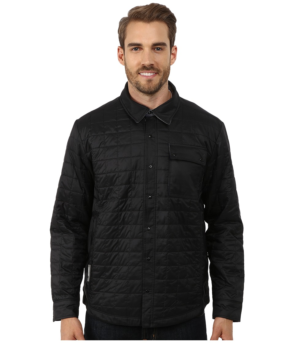Icebreaker Helix Long Sleeve Shirt (Black/Admiral/Aquamarine) Men