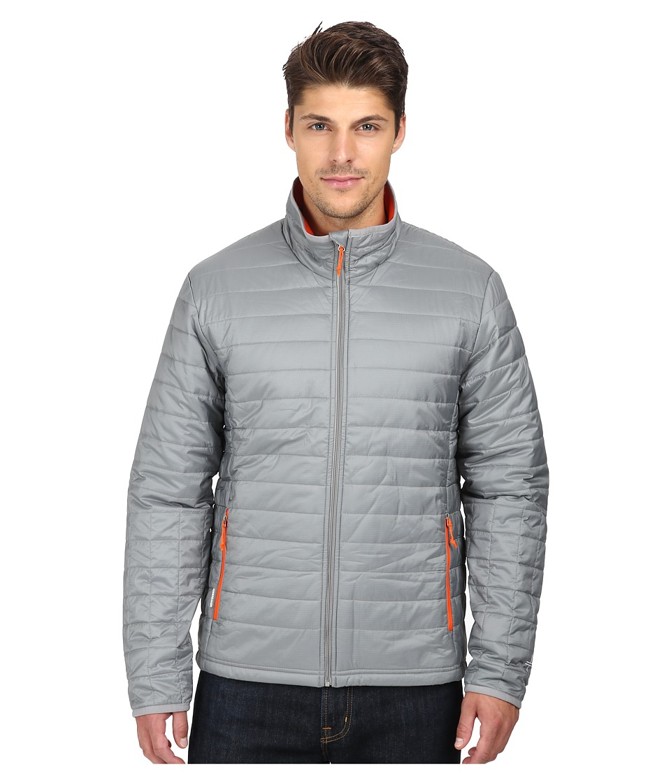 Icebreaker - Stratus Long Sleeve Zip (Fossil/Spark/Spark) Men's Coat