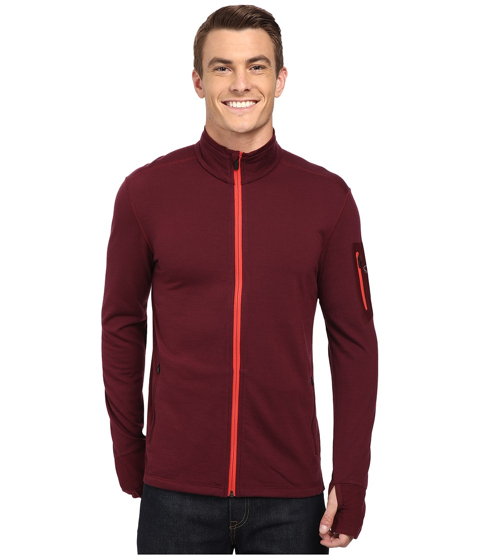 Icebreaker - Compass Long Sleeve Zip (Redwood/Clay) Men's Clothing