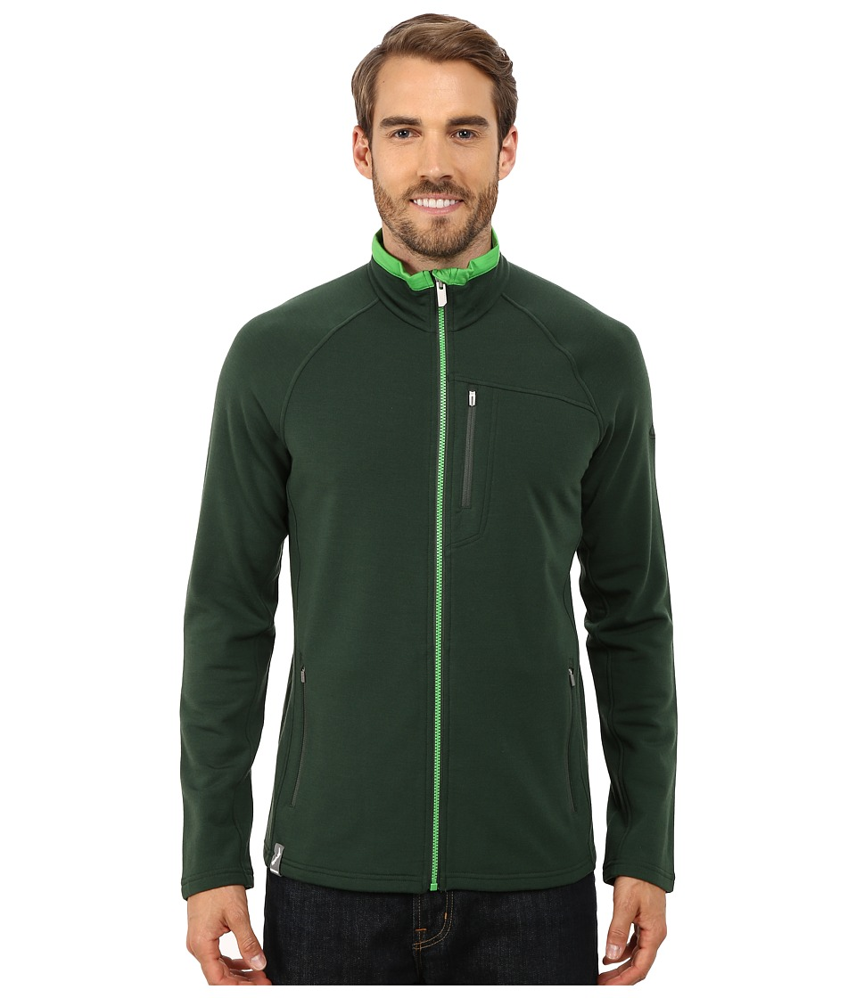 Icebreaker - Sierra Long Sleeve Zip (Conifer/Balsam/Balsam) Men's Sweatshirt