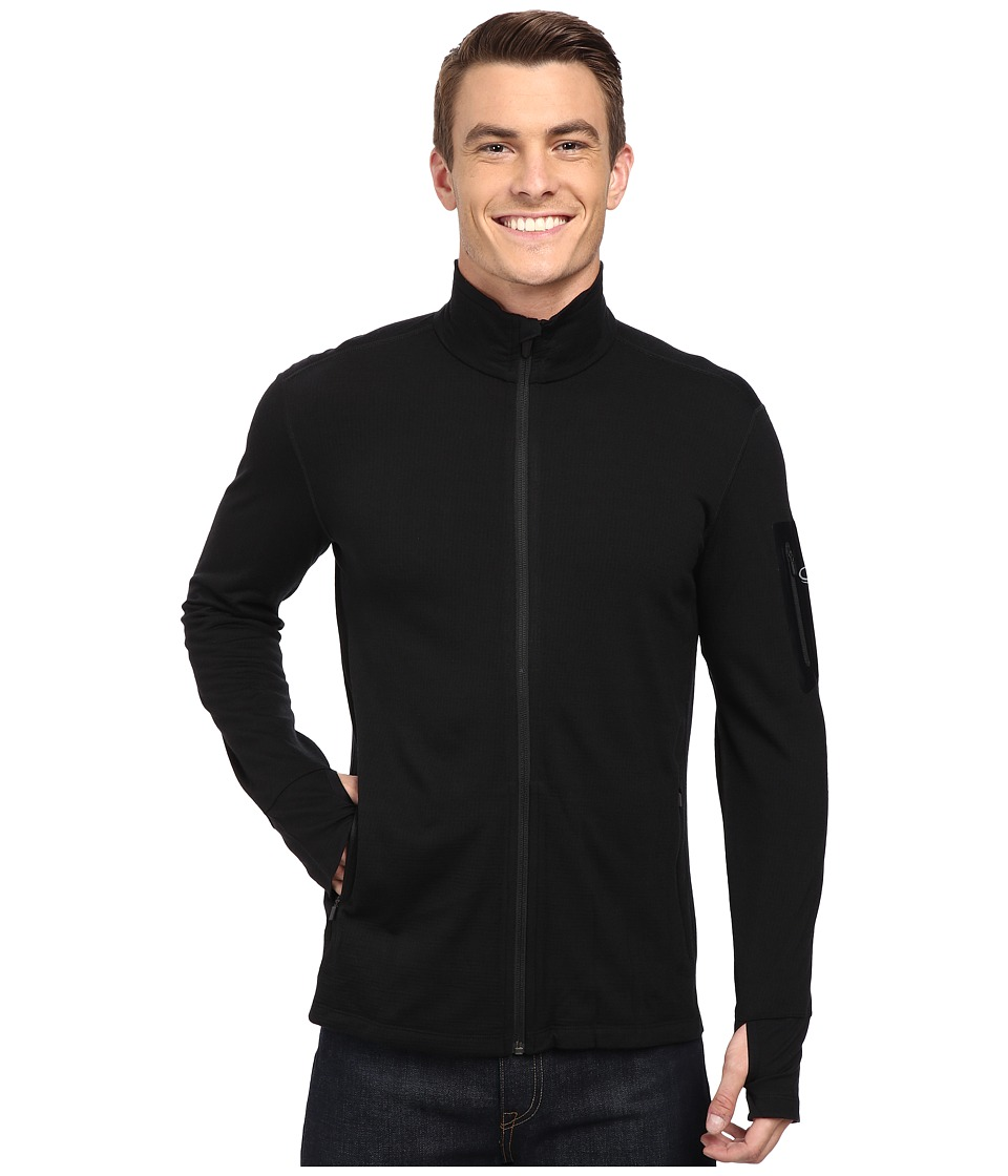 Icebreaker - Compass Long Sleeve Zip (Black/Black) Men's Clothing