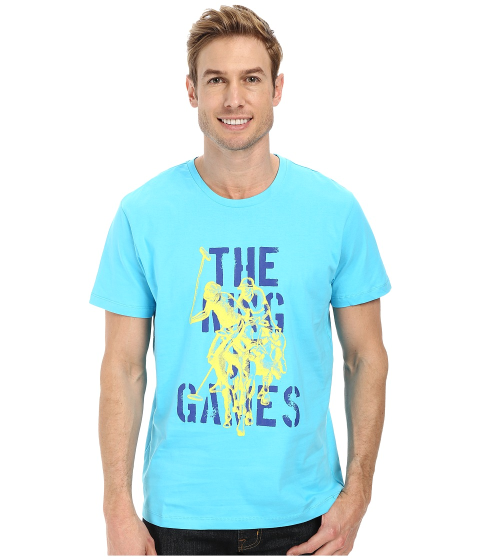 U.S. POLO ASSN. - The King Of Games T-Shirt (Blue Sea) Men's T Shirt