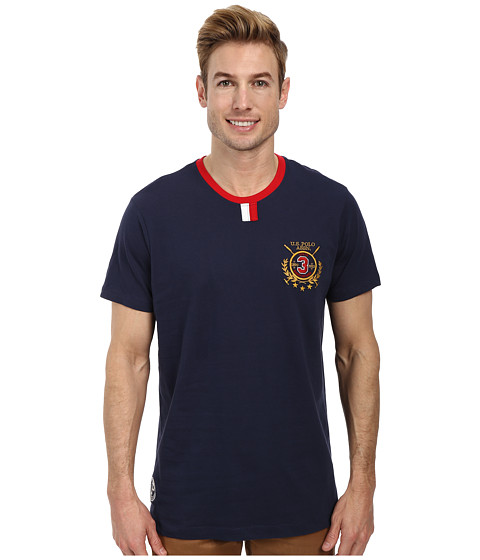 U.S. POLO ASSN. - 125th Anniversary Crew Neck T-Shirt (Classic Navy) Men