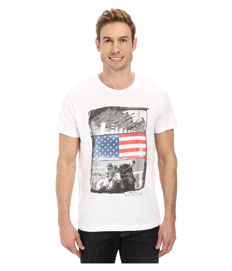 U.S. POLO ASSN. - Polo Print T-Shirt (White) Men's T Shirt