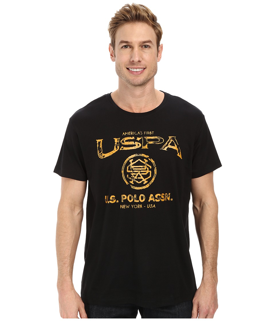 U.S. POLO ASSN. - Crew Neck Uspa Graphic T-Shirt (Black) Men's T Shirt