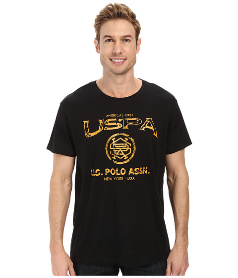 U.S. POLO ASSN. - Crew Neck Uspa Graphic T-Shirt (Black) Men