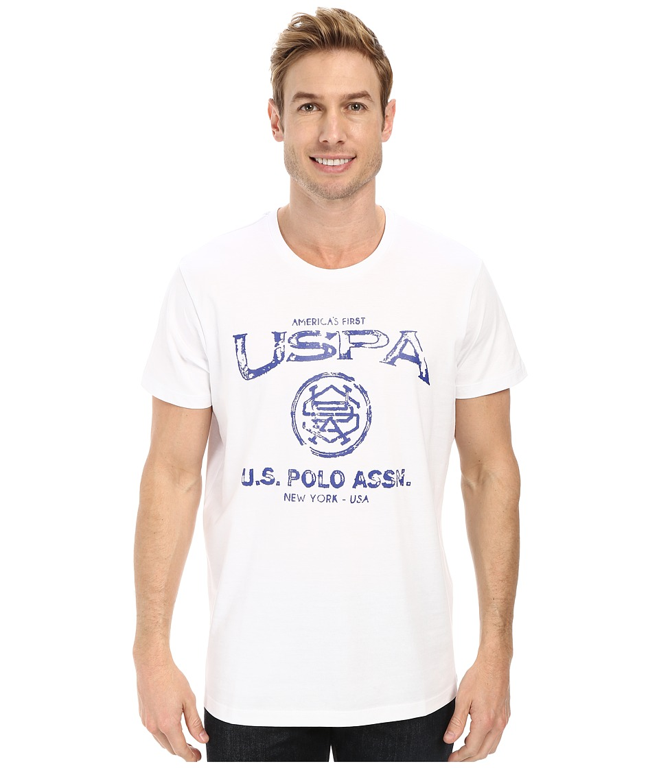 U.S. POLO ASSN. - Crew Neck Uspa Graphic T-Shirt (White) Men