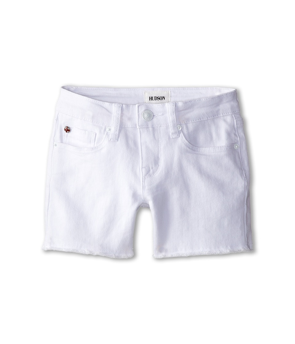 Hudson Kids - 4 Fray Shorts in White (Big Kids) (White) Girl's Shorts