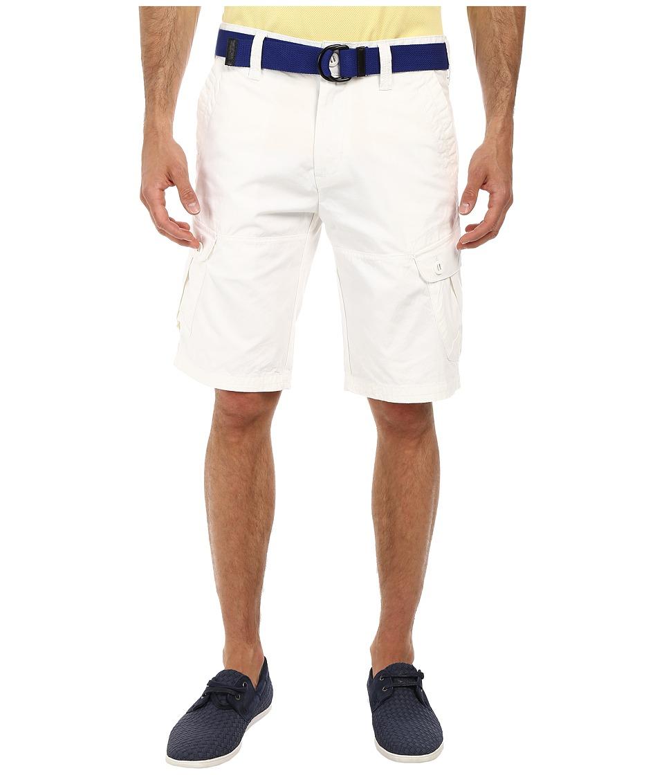 U.S. POLO ASSN. - Baby Canvas Slim Cargo Short (White) Men's Shorts