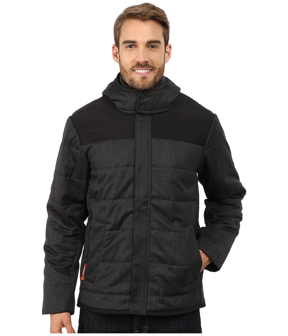 Icebreaker Scout Long Sleeve Zip Hoodie Jet Heather-Black Mens Sweatshirt