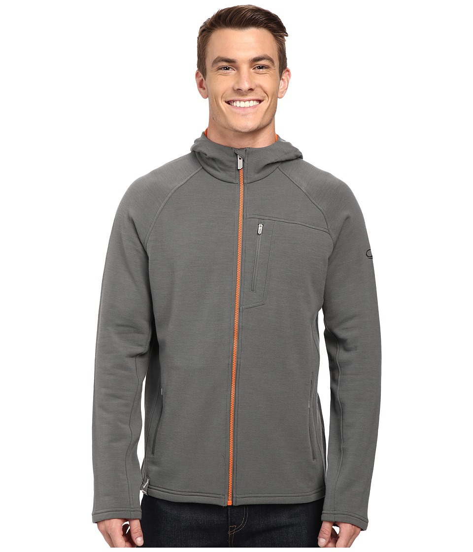 Icebreaker - Sierra Long Sleeve Zip Hoodie (Metal/Spark/Spark) Men