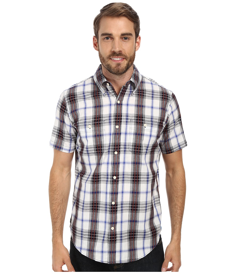 U.S. POLO ASSN. - Plaid Slim Fit Sport Shirt (Dodger Blue) Men