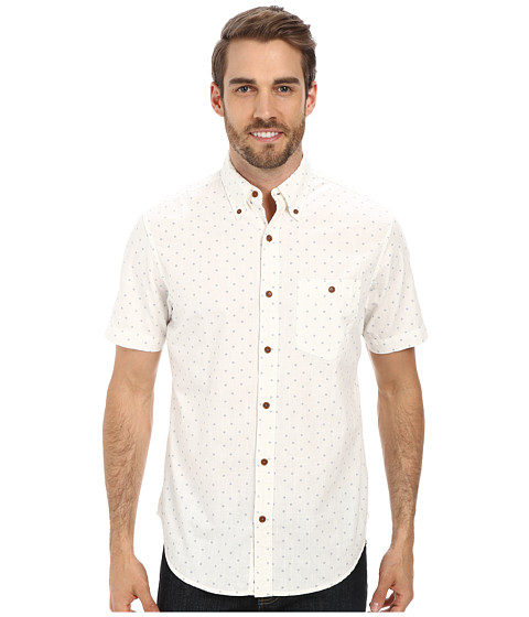 U.S. POLO ASSN. - Discharge Printed Sport Shirt (Off White) Men's Short Sleeve Button Up