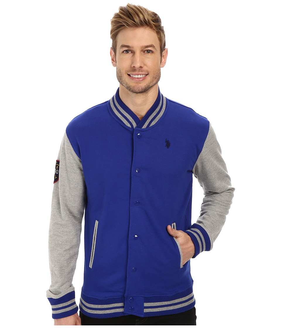 U.S. POLO ASSN. - French Terry Baseball Jacket (International Blue) Men's Coat