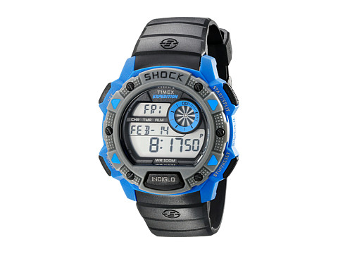 Timex - Expedition Base Shock (Black/Blue) Watches