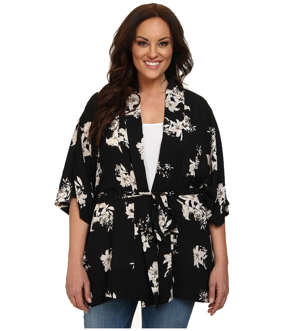 BB Dakota - Plus Size Lucy Jacket (Black) Women's Sweater